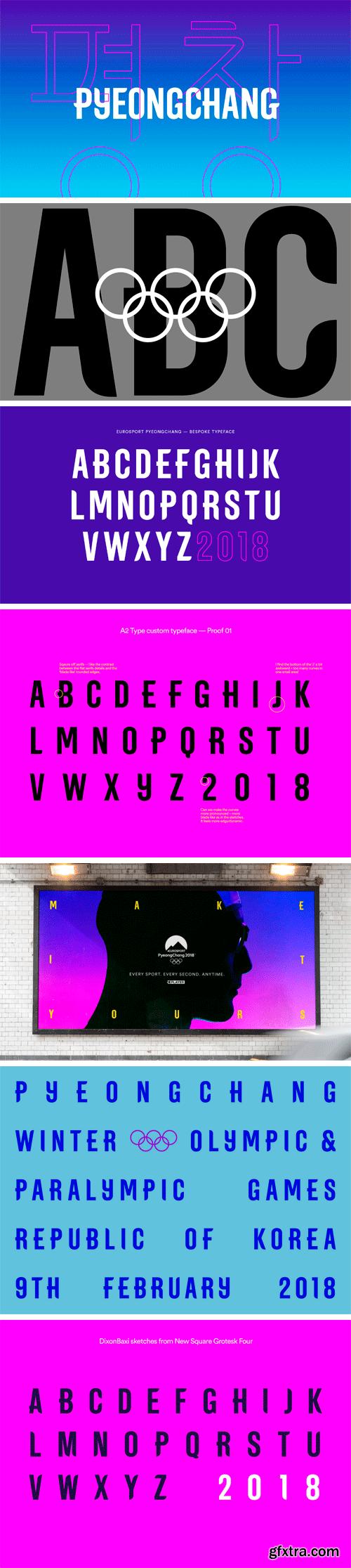 Eurosport PyeongChang Typeface