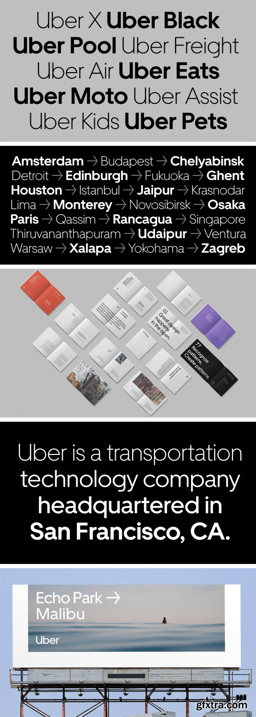 Uber Move Font Family