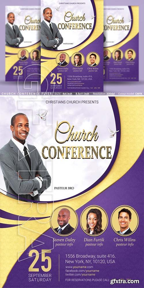 CreativeMarket - Church Conference Flyer Poster 3356987