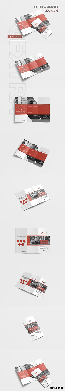 CreativeMarket - A4 Trifold Brochure Mockup 3134485