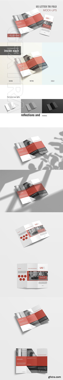 CreativeMarket - US Letter Tri Fold Mockup 3187122