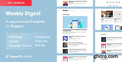 ThemeForest - Weekly Digest v1.0 - Newsletter Email Template - 23128505