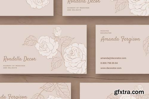 Rondella Wedding Business Card Template