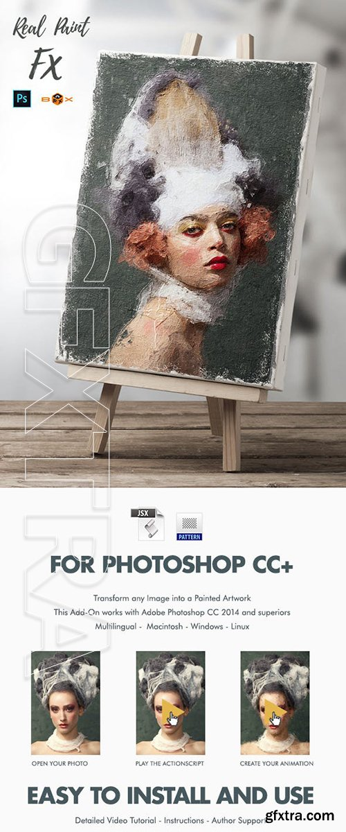 GraphicRiver - Animated Real Paint FX - Photoshop Add-On Extension 23116581