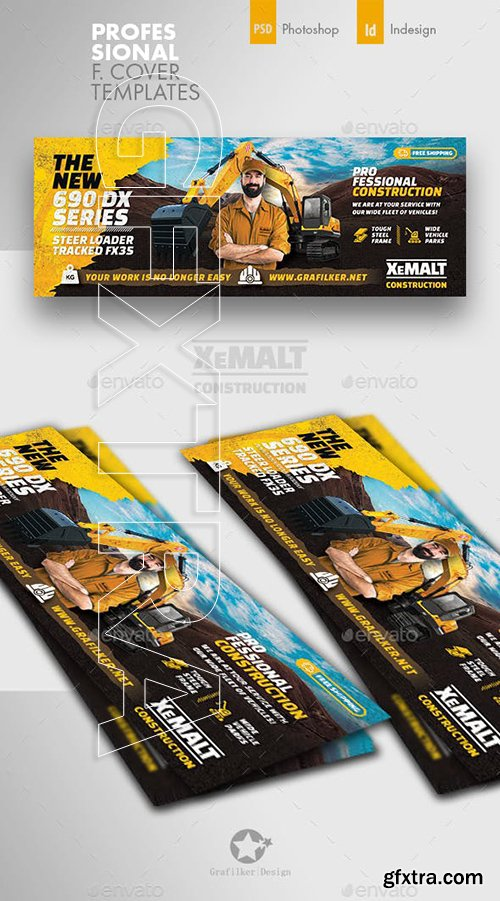 GraphicRiver - Construction Cover Templates 23068929