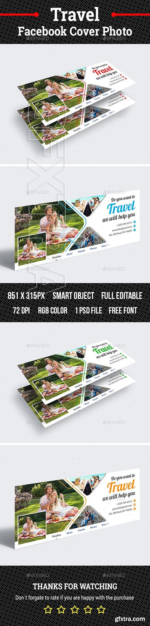 GraphicRiver - Travel Facebook Cover Photo 23095207