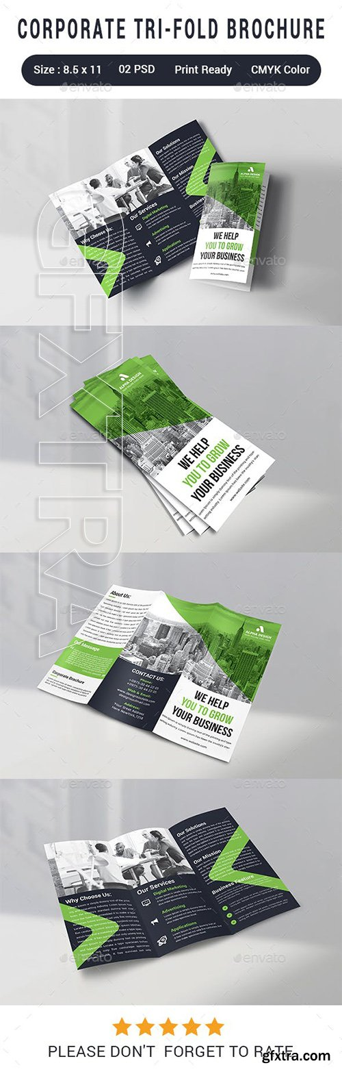 GraphicRiver - Corporate Tri-fold Brochure 23109863