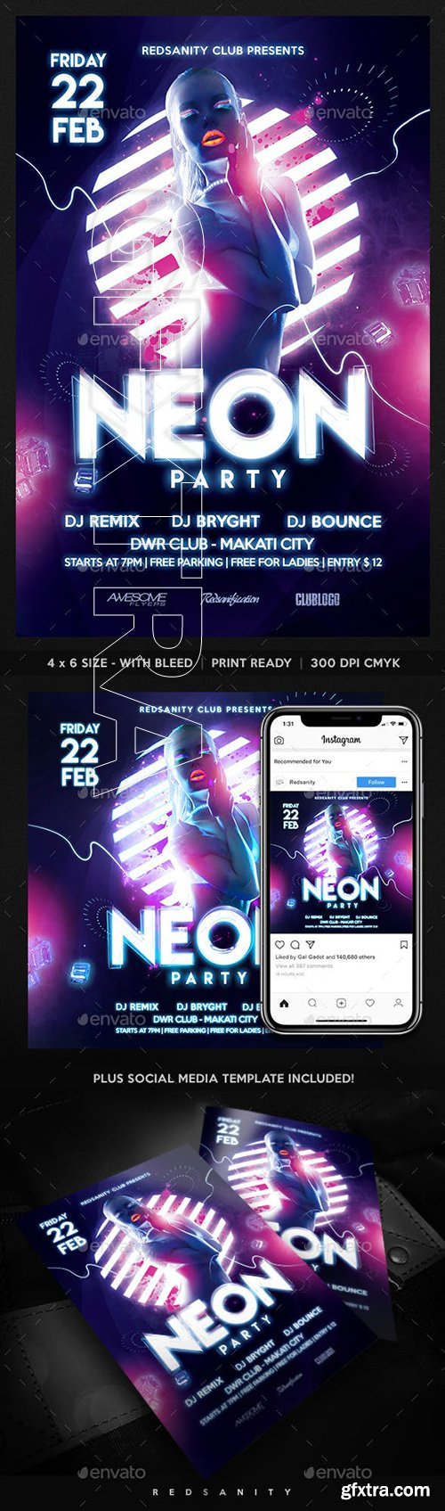 GraphicRiver - Neon Party Flyer 23113805