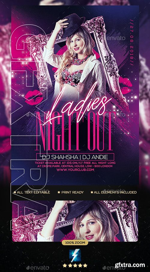 GraphicRiver - Ladies Night Party Flyer 23113869