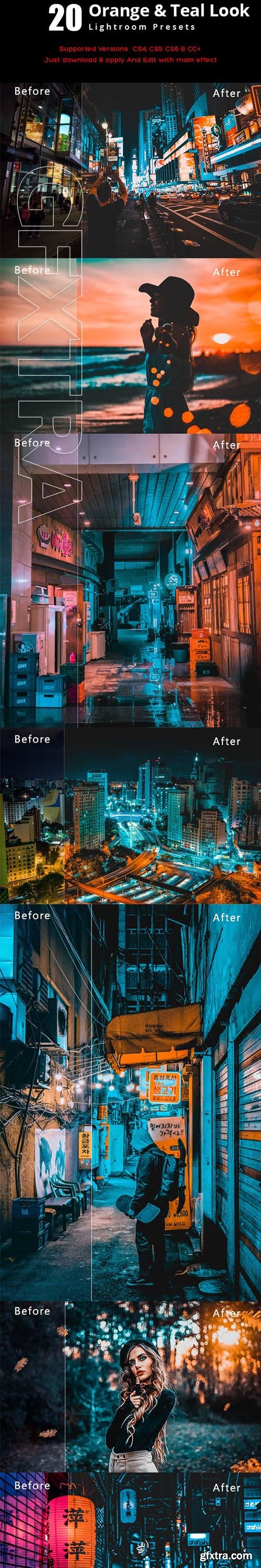GraphicRiver - 20 Orange & Teal Look Lightroom Preset 23119736