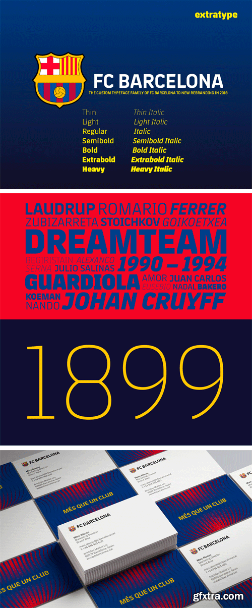 FC Barcelona New Custom Typeface 2018