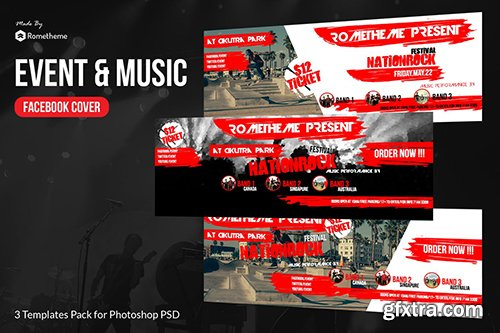 Event & Music Facebook Timeline Cover vol.1