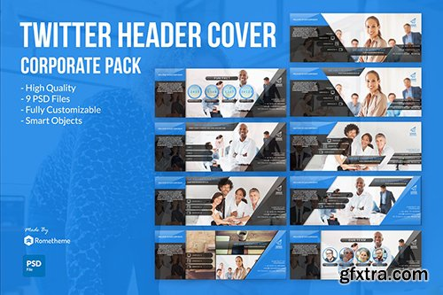 Corporate Twitter Headers Cover vol.1
