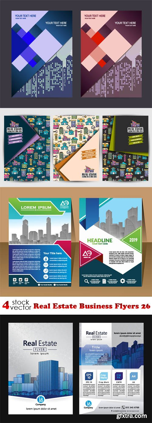 Vectors - Real Estate Business Flyers 26
