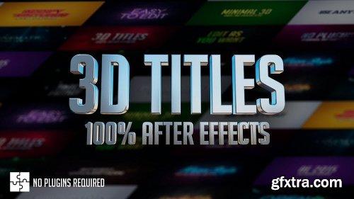 MotionArray 3D Titles - 100% After Effects 156132