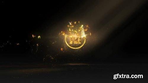 MotionArray - Golden Butterflies Logo After Effects Templates 159630