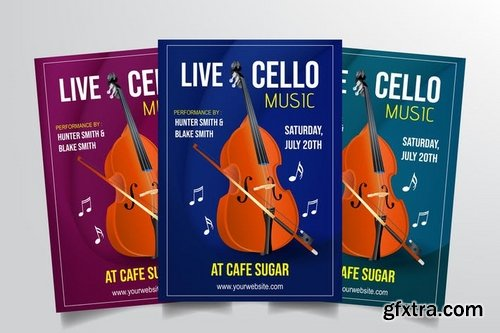 Cello Live Performance Flyer Template