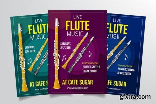 Flute Live Performance Flyer Template