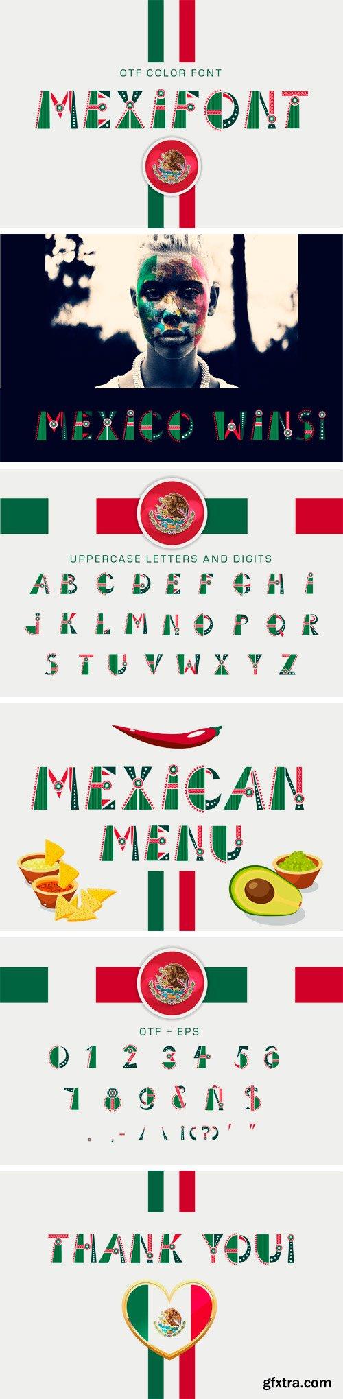 """CM - OTF Color Font """"Mexifont"""" 3152666"""