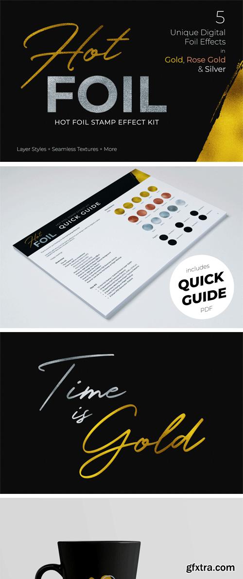 Designbundles - Hot Foil Stamp Effect Kit for Photoshop 185067