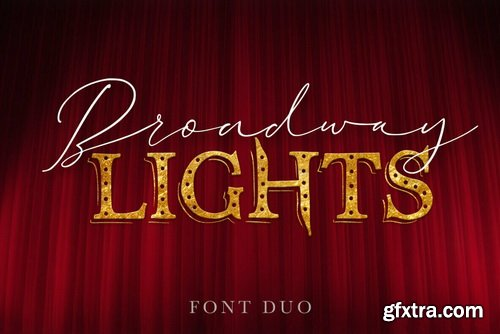 Broadway Lights Font Duo