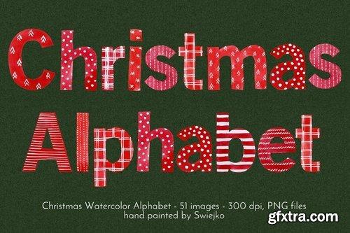 Watercolo Christmas Alphabet