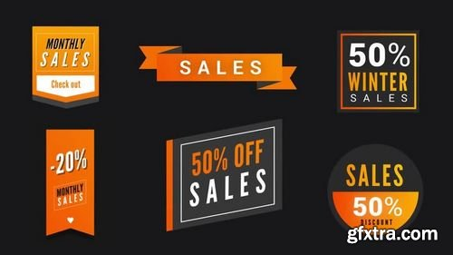MotionArray - Modern Sales Badges Pack After Effects Templates 160990