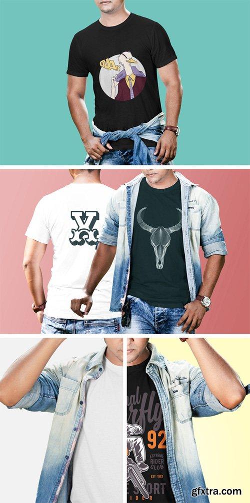 PSD Mock-Up - Men T-shirt Collection