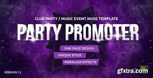 ThemeForest - Party Promoter v1.2 - Club Music Event Muse Template - 11042688