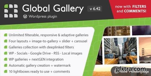 CodeCanyon - Global Gallery v6.42 - Wordpress Responsive Gallery - 3310108