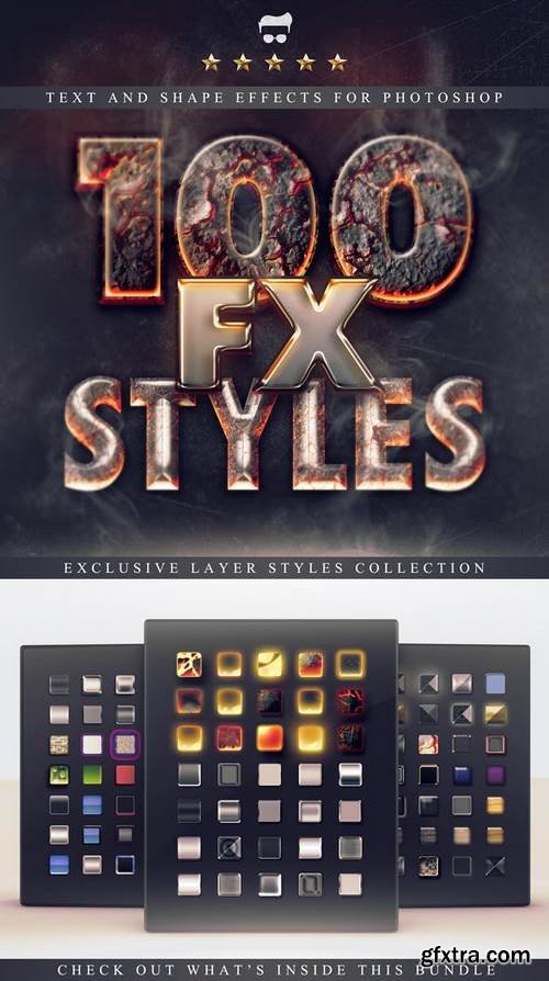 Graphicriver - 100 Layer Styles Bundle - Text Effects Set 3116716