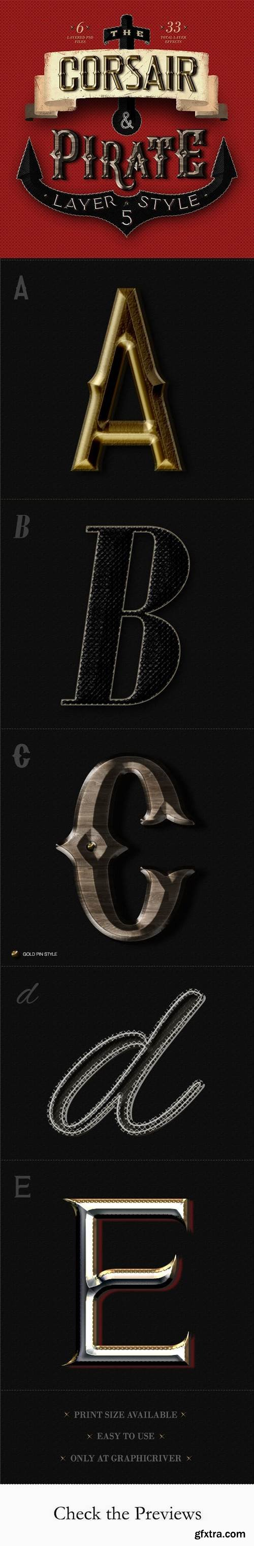 Graphicriver - The Corsair and Pirate Photoshop Text Effect 21372619