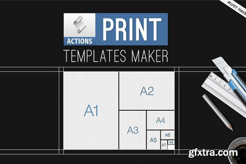 Print Templates Generator Photoshop Actions