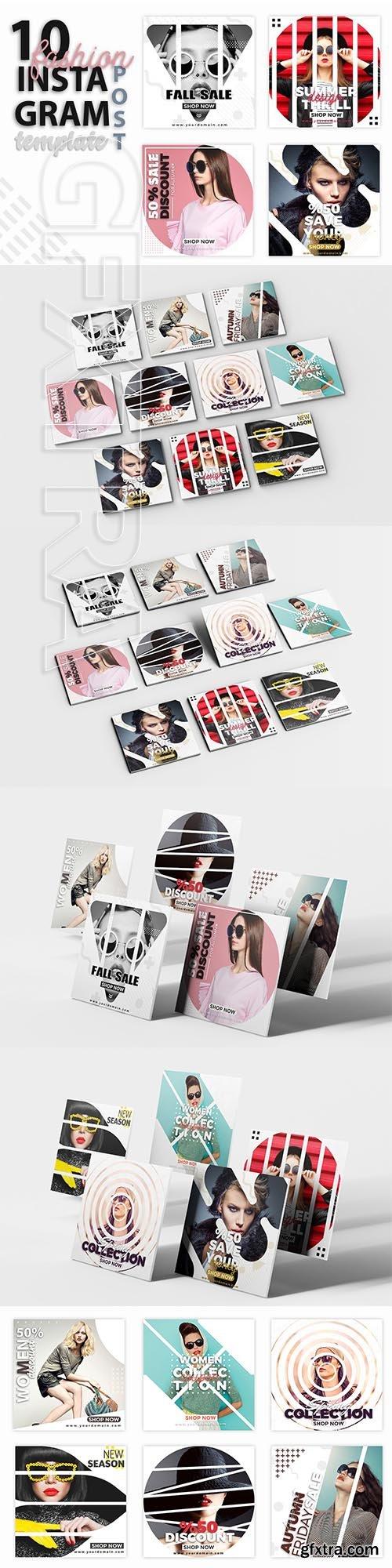 CreativeMarket - Instagram Post Template - Fashion 3361302
