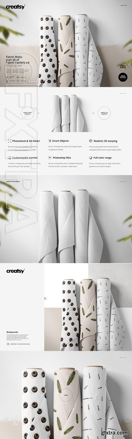 CreativeMarket - Fabric Rolls Mockup 36FF v 6 3334265