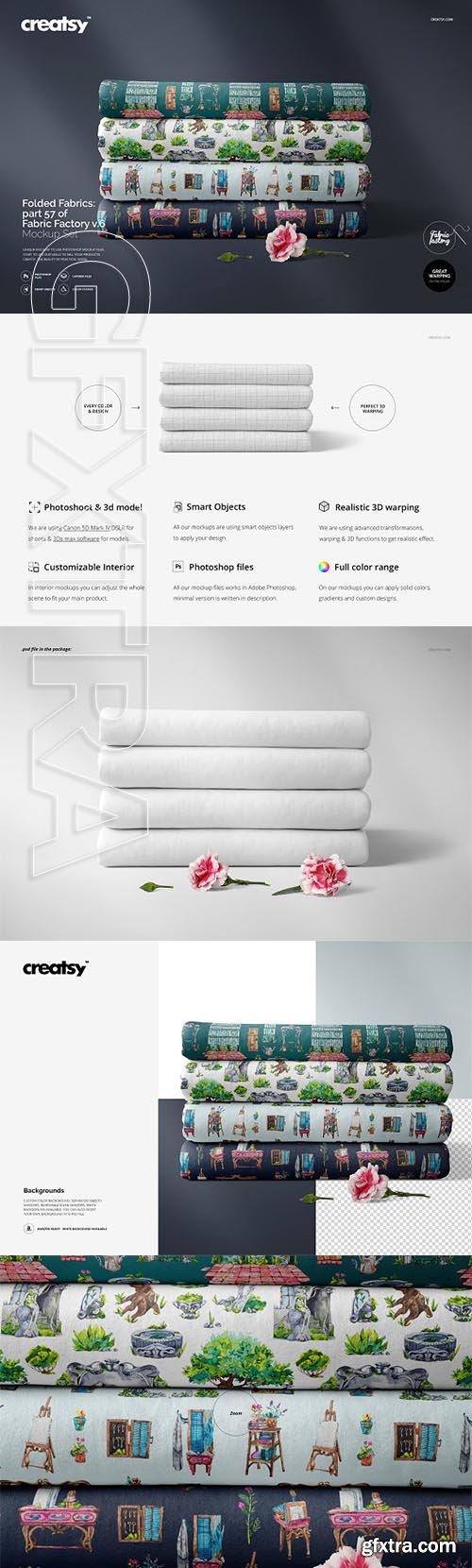 CreativeMarket - Folded Fabrics Mockup 57FF v 6 3332520