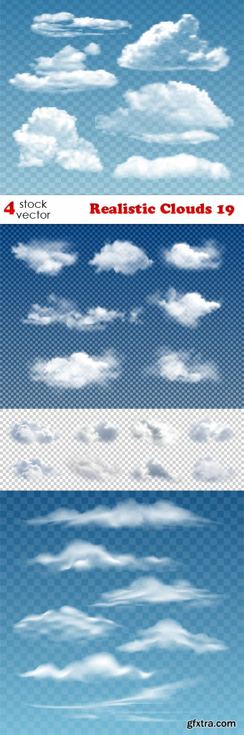 Vectors - Realistic Clouds 19