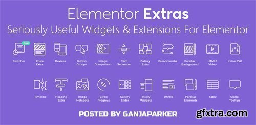 Elementor Extras v2.0.8 - Seriously Useful Widgets & Extensions For Elementor - NULLED