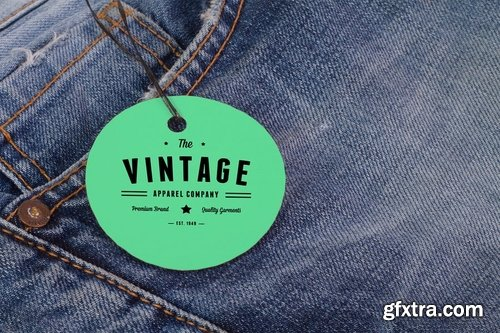 Clothing Label Tag Mock Up