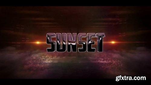 MotionArray - 3D Sunset Logo 161294