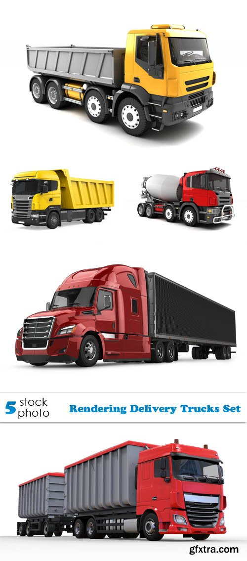 Photos - Rendering Delivery Trucks Set