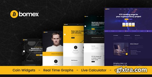 ThemeForest - Bomex - Cryptocurrency & Bitcoin HTML Template (Update: 4 January 19) - 21822950