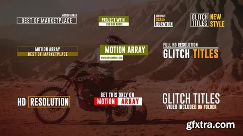 MotionArray 15 Glitch Titles 161382