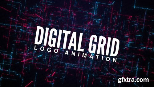 Videohive Digital Grid Logo Animation 23146902