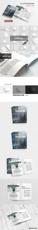 CreativeMarket - US Letter Magazine Mockup 2855747