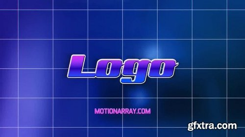MotionArray Wireframe Path Retro Logo 161849