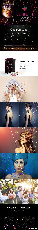 CreativeMarket - 48+ Confetti Photo Overlays 3355789