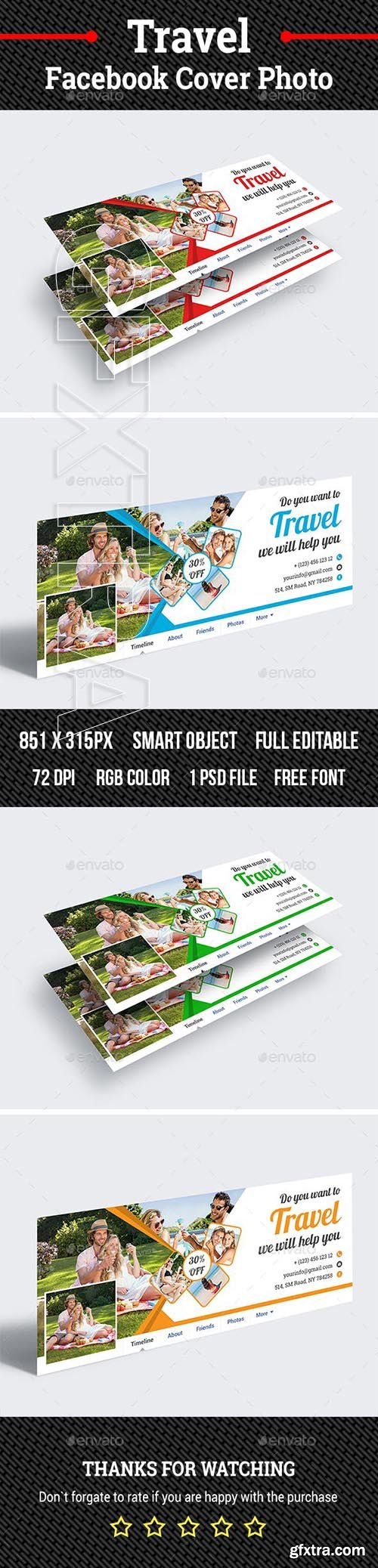 GraphicRiver - Travel Facebook Cover Photo 23116032