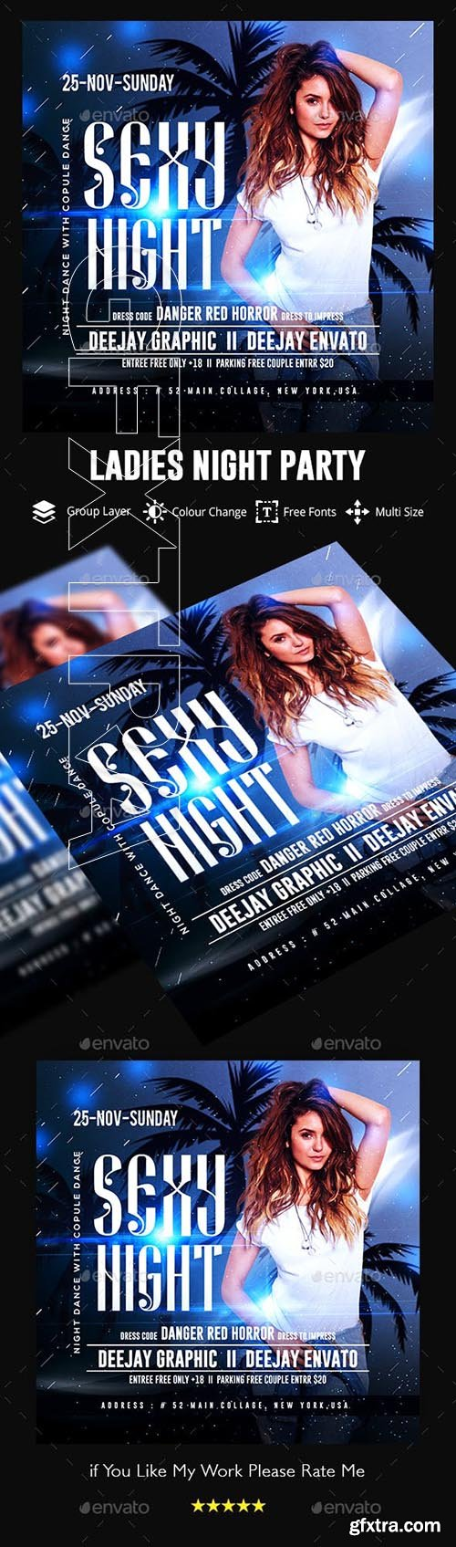 GraphicRiver - Ladies Night Club Flyer 23114554