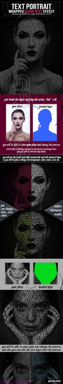 GraphicRiver - Text Portrait Action - Plain Text Style 23114539